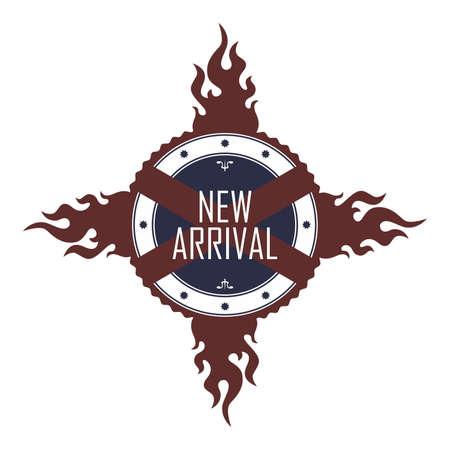 new arrival: new arrival label Illustration