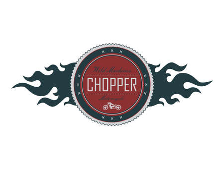 red chopper label Ilustrace
