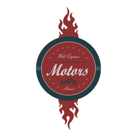 motors club chopper label Ilustração