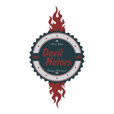 devil chopper label