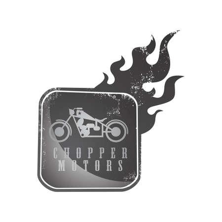 black fire chopper Ilustração