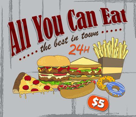 food poster art Stock Vector - 21060605