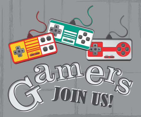 gamers page Stock Illustratie