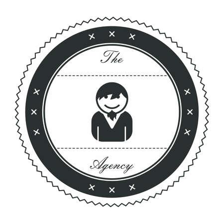 goatee: goatee guy avatar label Illustration