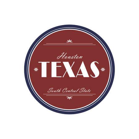 texas label Vector