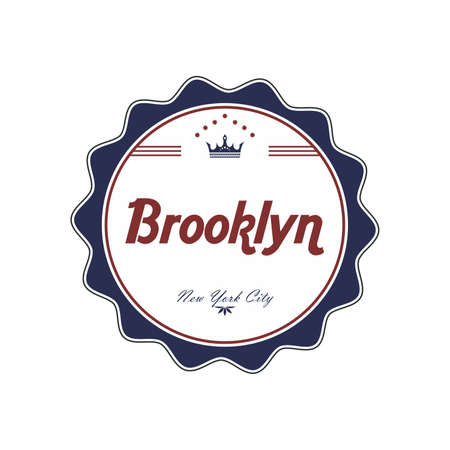 brooklyn label Stock Vector - 21044140