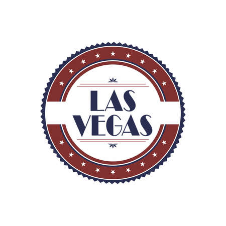las vegas label Stock Vector - 21040928