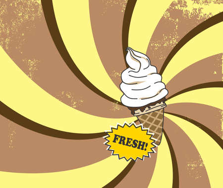 retro ice cream Vector