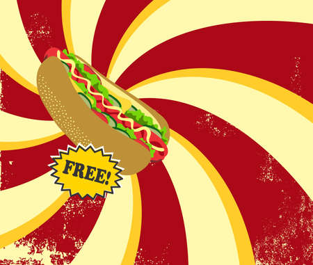 hot dog retro Vector