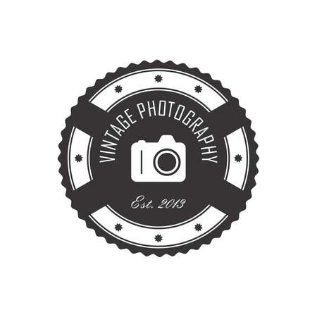 photography label Vector
