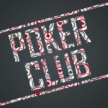 poker club sign Ilustração