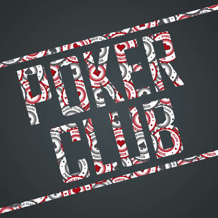 poker club sign Illustration