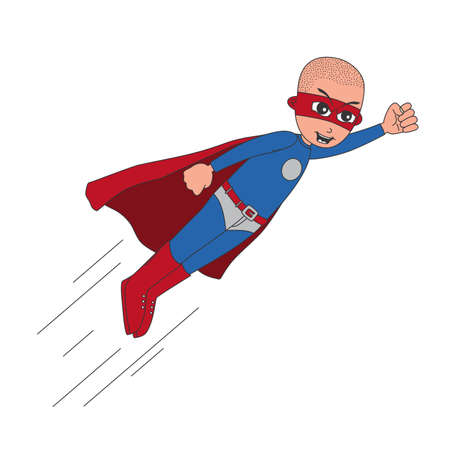 shaved head: flying shaved head superhero