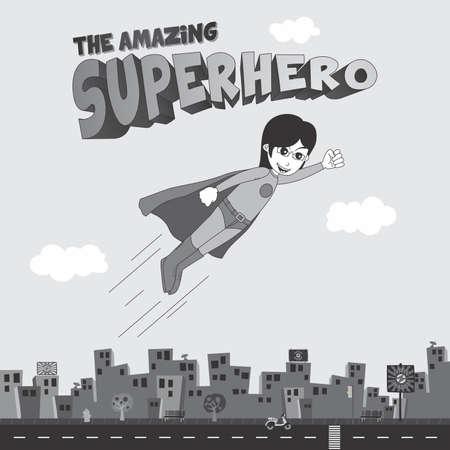 classic superhero comic cartoon Vector
