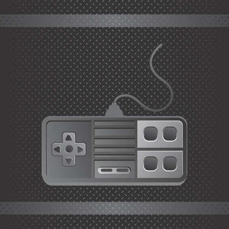 joypad: metal art joystick Illustration