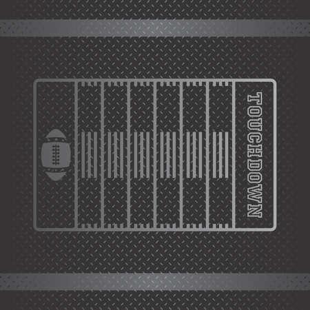 football touchdown Stock Vector - 22186359