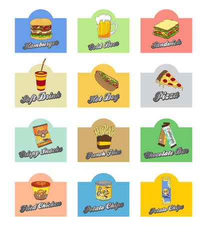 fastfood art vintage Illustration