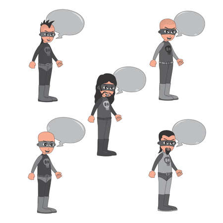 villain: villain guy bubble set