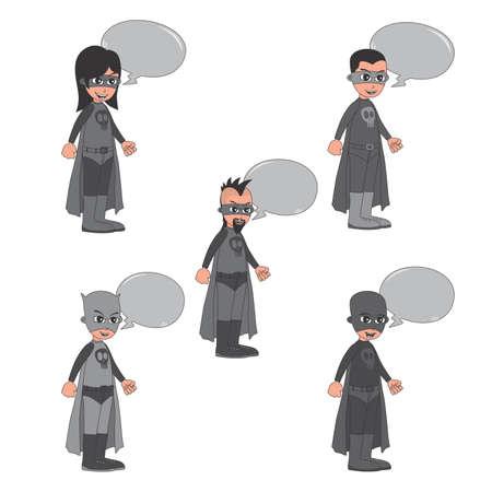 villain: villain cartoon bubble art Illustration