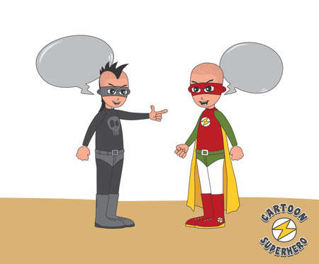 villain: hero versus villain art Illustration