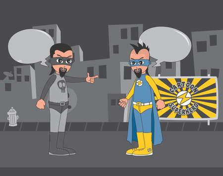 city art hero fight Vector