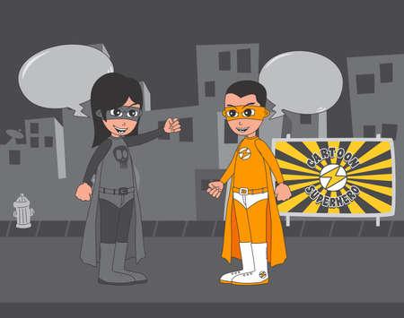 villain: city villain hero Illustration