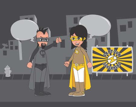 hero fight Vector