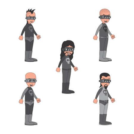 villain: villain guy set
