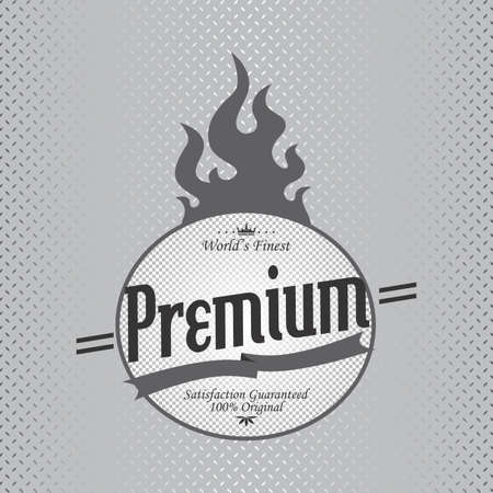 premium fire label Vector