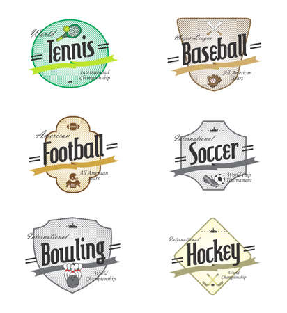sport label set Vector