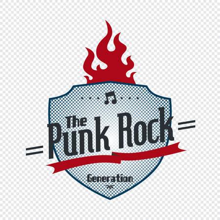 punk rock art badge Stock Vector - 21227010