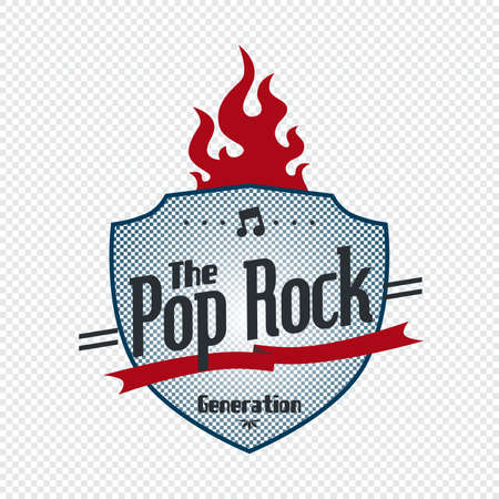 pop rock label Stock Vector - 21157433