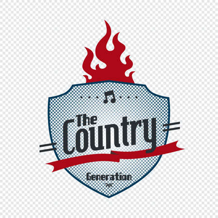 country fire label Stock Vector - 21204886