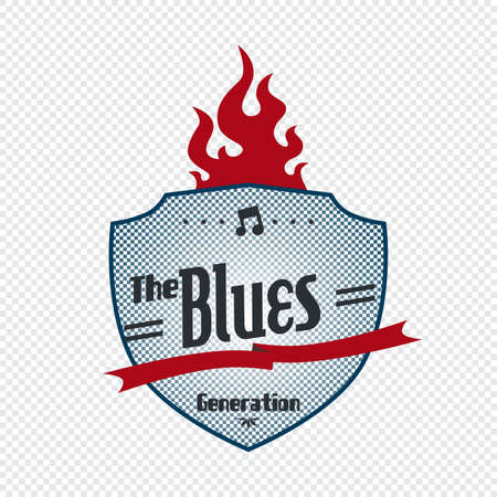 blues label Illustration