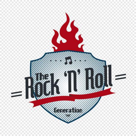 rock label Stock Vector - 21125909