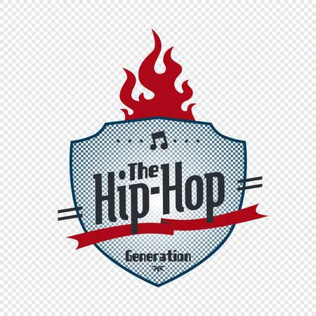 hip hop art badge Stock Vector - 21227011
