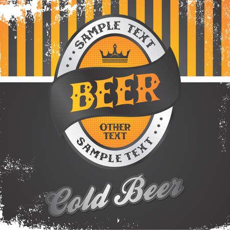cerveza etiqueta de la vendimia Ilustración de vector