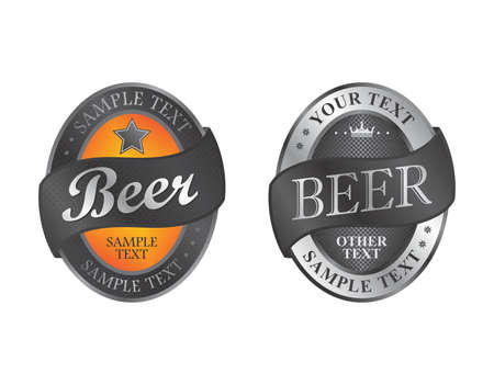beer set label Vector