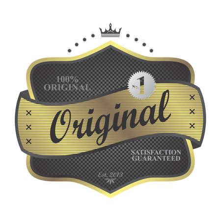 original gold art label Vector