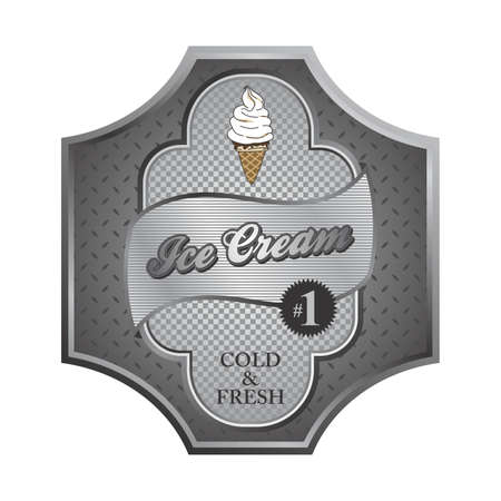 ice cream plate Vector