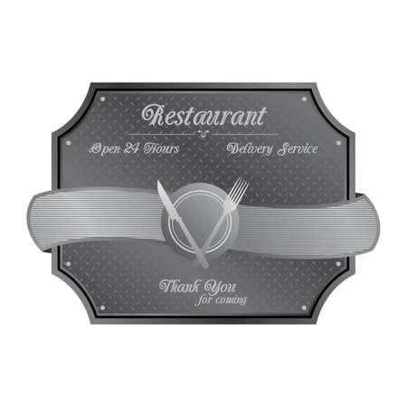 restaurant silver Vector