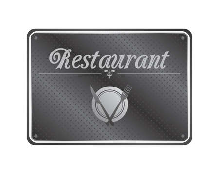 restaurant sign plate Vector
