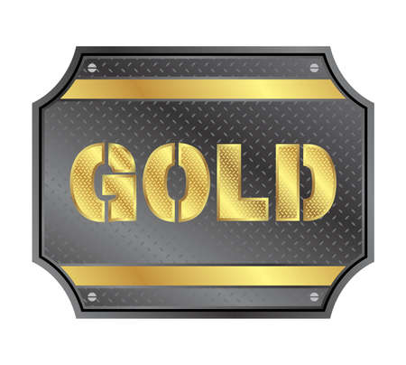 gold plate Vector