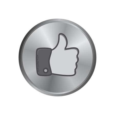 like hand: like hand thumb Illustration