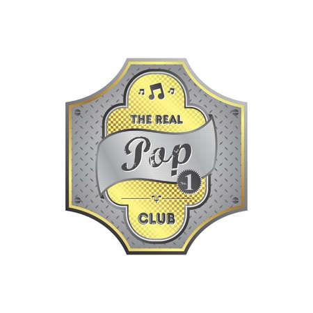 pop music: pop music label Illustration