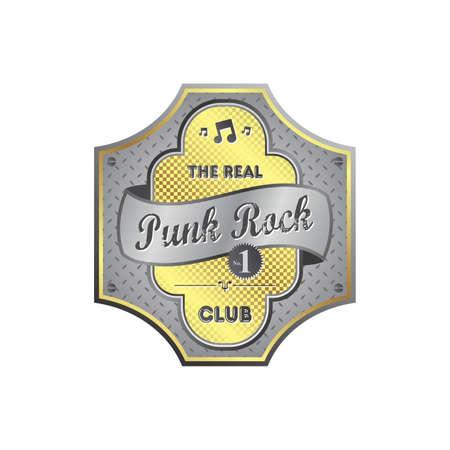 punk rock music label Stock Vector - 22663339