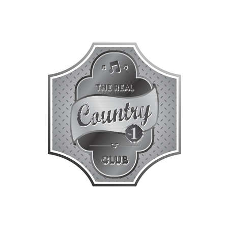 country music: Country-Musik-Label Illustration