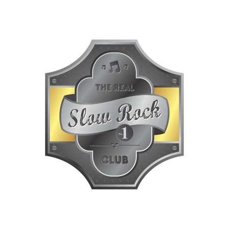 music label sticker metal plate theme Stock Vector - 22447225