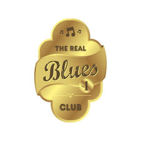 blues music label Vector