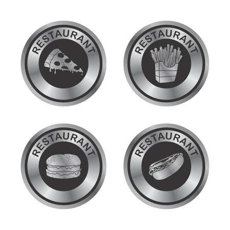 silver label set Vector